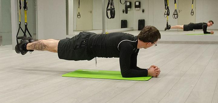 Ćwiczenia na mięśnie brzucha z TRX dla początkujących